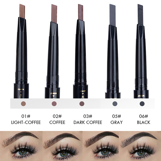 Hot 5 Colors Eyebrow Pencil Eye Brow Tint Cosmetics Natural Long Lasting Paint Tattoo Eyebrow Waterproof Black Brown Makeup Set