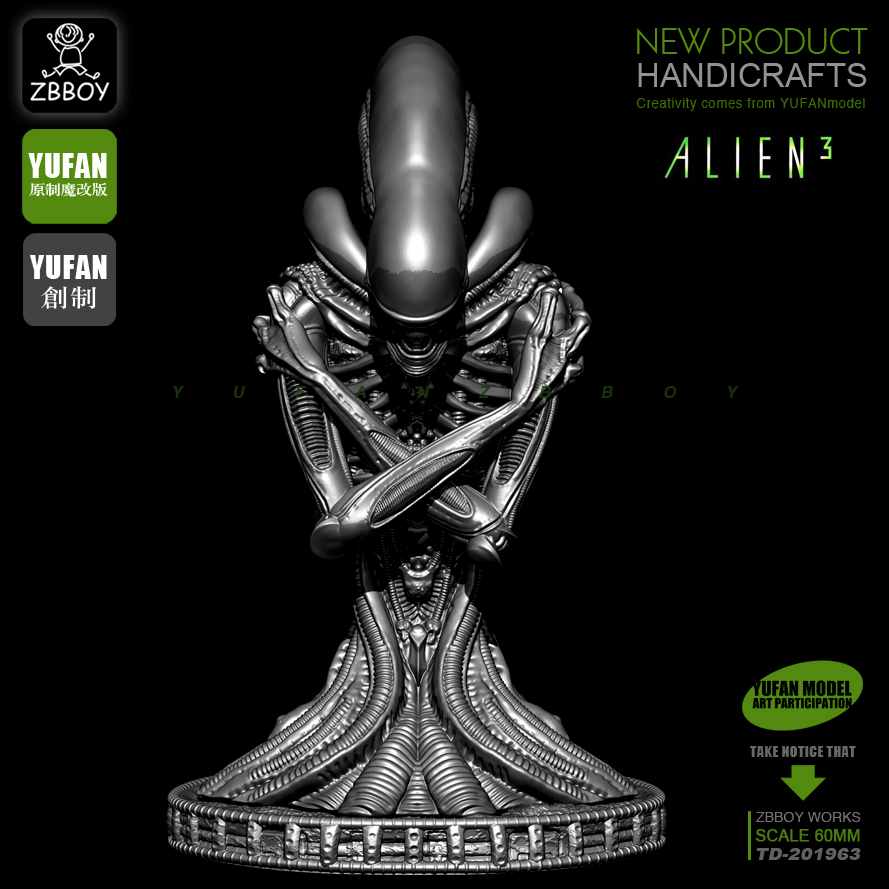 60MM Resin Bust Of Alien 3 Soldiers Manpower To Do TD-201963