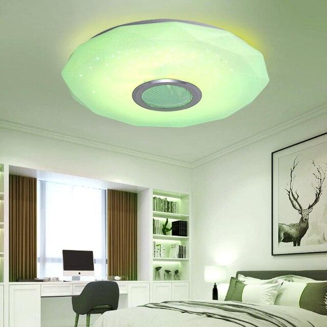 Купить светодиодный потолочный светильник для музыки с дистанционным картинки цена