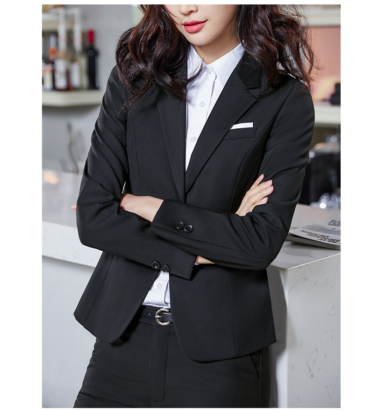 Image 4 - Free shipping 2019 Fashion men women blazer suit office uniforms 