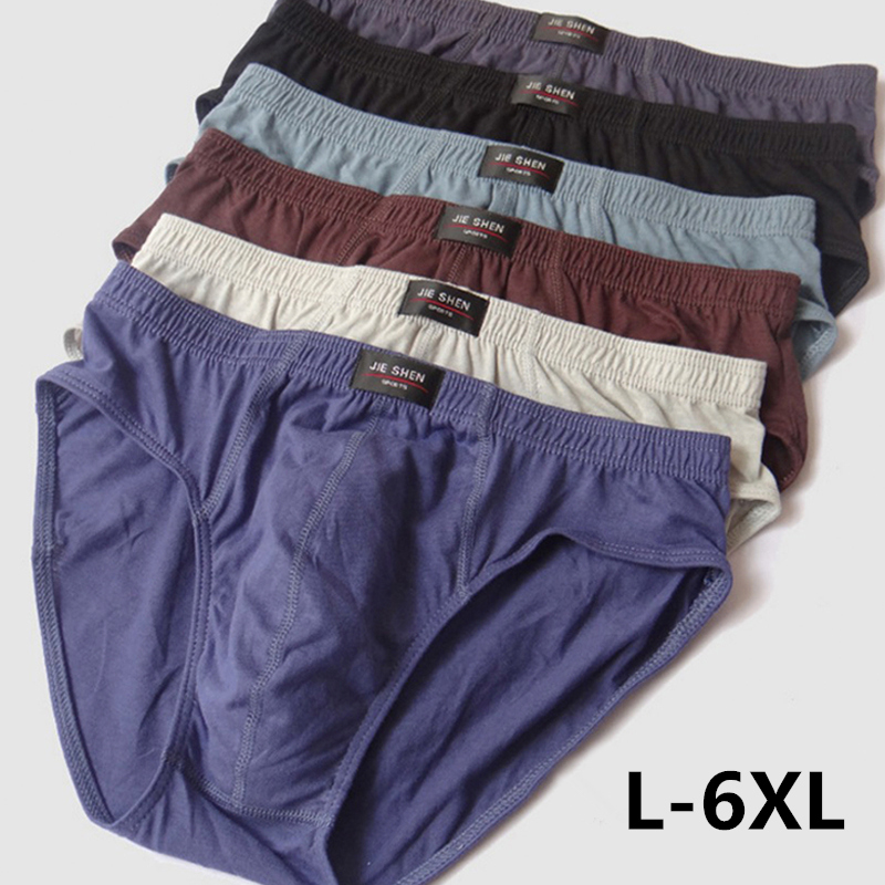 100% Cotton Briefs Mens Comfortable Underpants Man Underwear M/L/XL/2XL/3XL/4XL/5XL 4pcs/lot Free Shipping & Drop Shipping