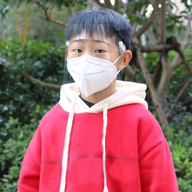 Spring Protective Cover Transparent Mask Protective Face Shield Transparent PVC Anti-fog Saliva And Germ Protection 5