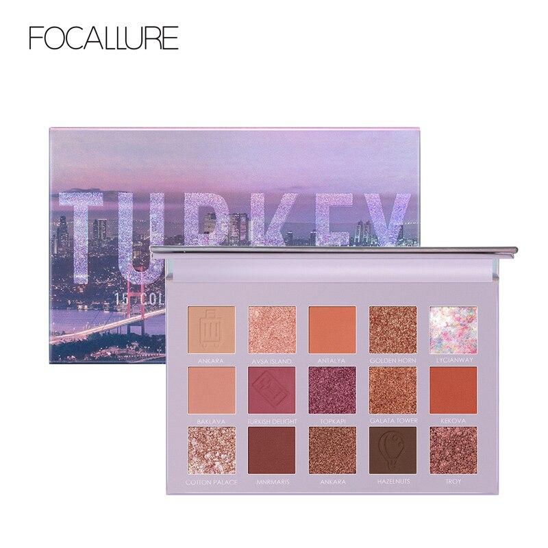 FOCALLURE Tons Pigmentado Liso Fosco Da Paleta Da Sombra Glitter Maquiagem Viagem Profissional Da Sombra de Olho