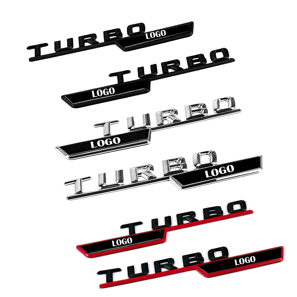 2Pcs Car styling Side Fender Stickers For Mercedes Benz TURBO AMG Logo Emblem Letters Accessories