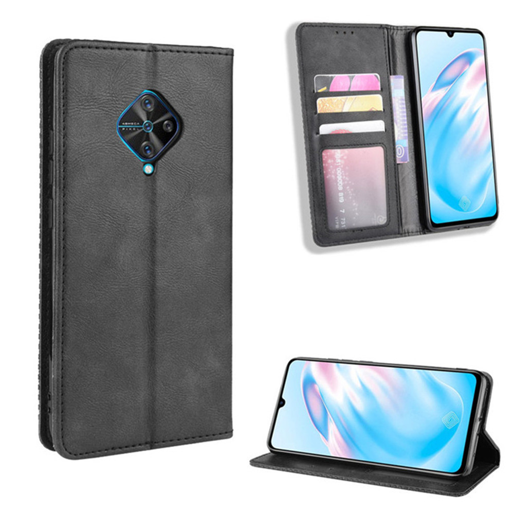 For <font><b>Vivo</b></font> <font><b>V17</b></font> <font><b>Case</b></font> For <font><b>Vivo</b></font> S1 <font><b>Pro</b></font> Luxury Flip PU Leather Wallet Magnetic Adsorption <font><b>Case</b></font> For BBK <font><b>vivo</b></font> Y9S <font><b>V17</b></font> S1Pro Phone Bag image