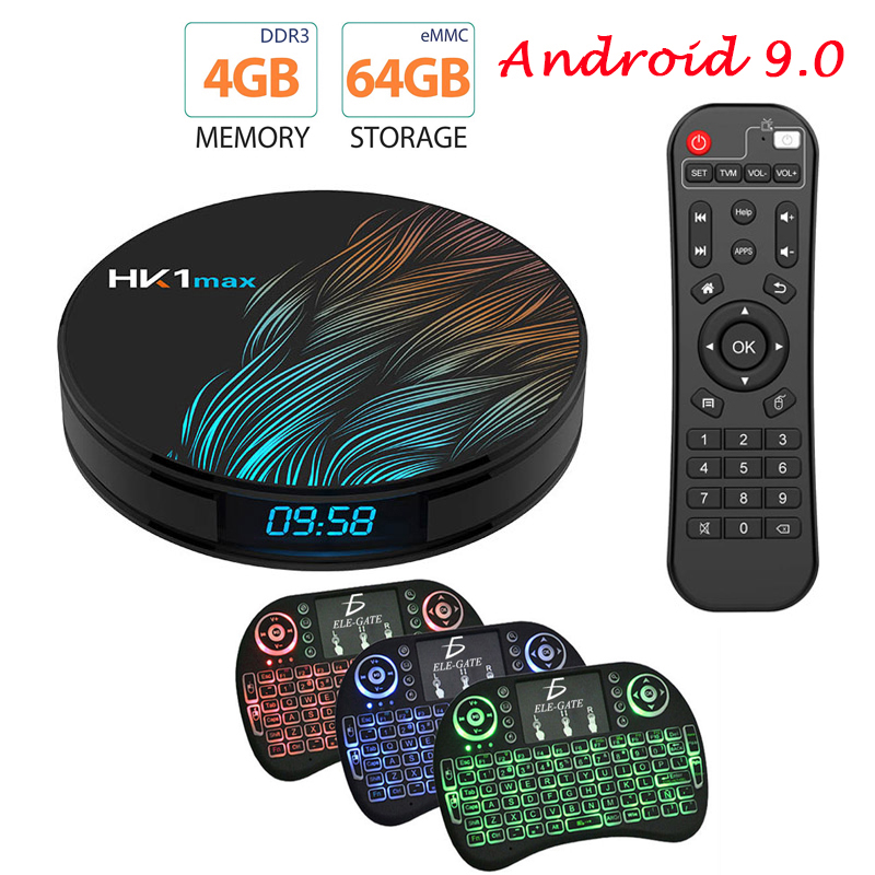 4K Smart TV BOX Android 9.0 4GB 64GB HK1 MAX TV receiver Wifi Media player Google Assistant Fast Set top Box HK1 MAX PK H96 MAX