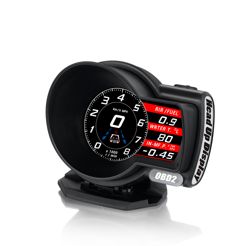 OBDHUD Car Electronics OBD2 Gauge   F8 Head Up Display Turbine Pressure OBD Multifunctional LCD Instrument for Automobile-in Head-up Display from Automobiles & Motorcycles