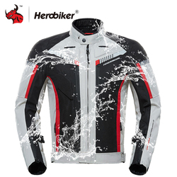 HEROBIKER Осень Зима мотоциклетная мужская куртка водостойкий ветрозащитный Мото куртка для верховой езды гоночный мотоцикл одежда защитное с...