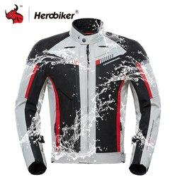 HEROBIKER الخريف الشتاء دراجة نارية سترة الرجال للماء يندبروف موتو سترة ركوب سباق دراجة نارية ملابس واقية