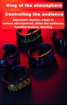 Smart Bluetooth LED luminous bracelet watch APP connected to mobile phone to change the word child anti-lost display bracelet bluetooth 4 ble multifunction pedometer keyfob development board to support the anti lost ibeacon