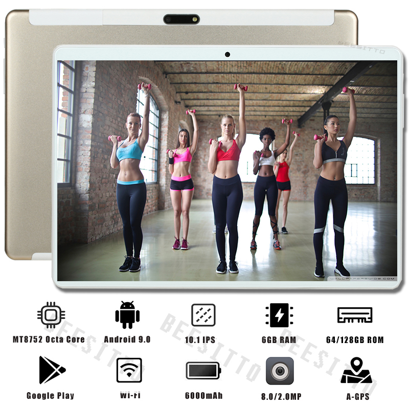 2020 Newest Tablet 10.1 Inch 6GB RAM 128GB ROM 1280*800 IPS Dual SIM Card 4G LTE FDD Wifi Android 9.0 OS 10 Inch Tablets