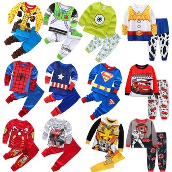 2021 Avenger Kids Pajamas Baby Boys Clothes Girl Sleepwear Children Spiderman Sets West Cowboy Pyjamas Superman Toddle Clothing - discount item  66% OFF Children's Clothing
