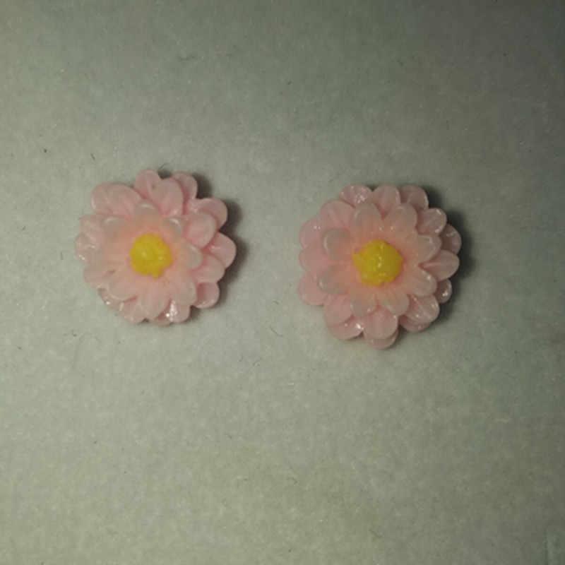 אופנה חמוד סוכריות 7 צבעים קטן דייזי פרח עגילי שרף רך חרס עגילי עגילי נשים אנטי אלרגי תכשיטי Earrin