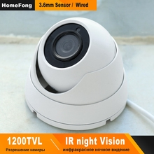 HomeFong Dome Analog Camera for Video Intercom Wired 1200TVL 360 Degree Rotatory Infrared Night Vision Waterproof Outdoor Camera