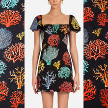 Coral printed cotton fabric meter 140 cm width digital printing direct injection process dress cotton fabric wholesale cotton cl