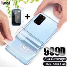 Arka hidrojel Film Samsung Galaxy A50 A71 A51 A21s M31 A70 ekran koruyucu S20 fe S10E S8 S9 S21 kamera cam not 20 Ultra 10 Plus
