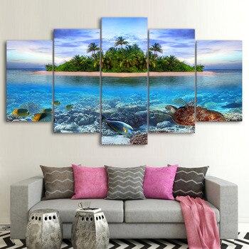5d diy Diamond painting Sea Turtle Fish Palm Trees full square drill Cross Stitch embroidery Rhinestone mosaic Marine Life,wall