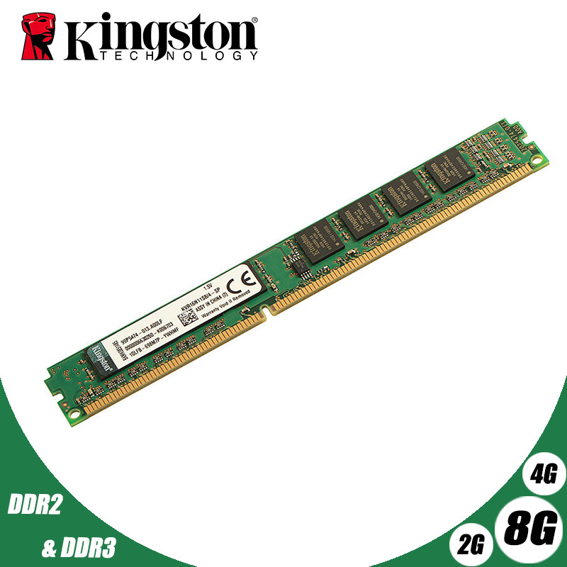 Kingston Desktop Memory 2GB 2G 800MHz PC2-6400 DDR2 PC RAM 800 667 6400 2GB 4GB 8GB PC3 DDR3 1G 2G 4G 8G 1333MHz 1600MHz