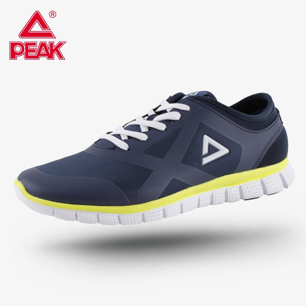 PEAK Men's Running Shoes Breathable Sport Shoes Men Wearable Lightweight Comfort Fitness Jogging Sneakers Footwear
