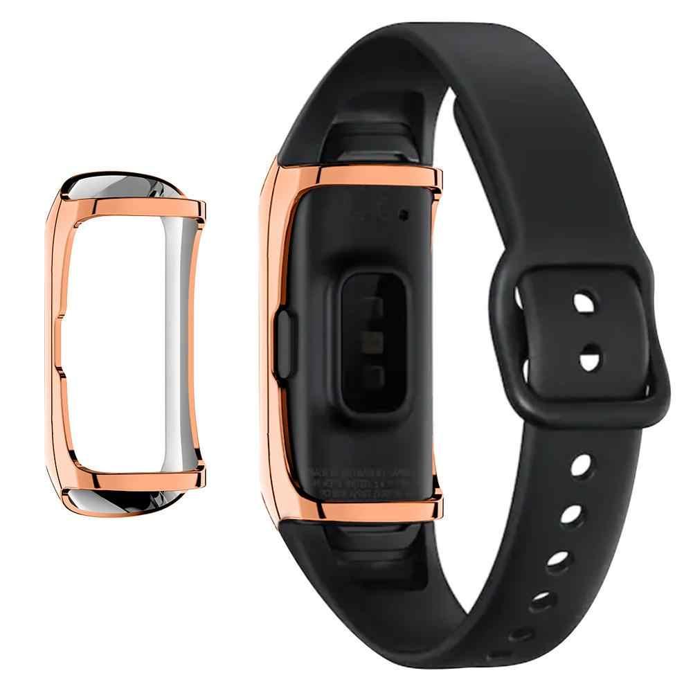 360 תואר TPU מגן מקרה עבור Samsung Galaxy Fit SM-R370 חכם צמיד כיסוי מעטפת שעון מגן פגז