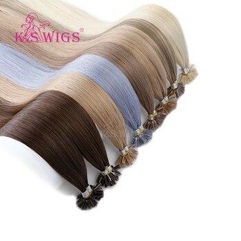 KS PRUIKEN 16 ''20'' 24 ''28'' 100% Remy Nail U Tip Haarverlenging Keratine Capsule Pre Bonded Double Drawn Rechte Fusion Haar