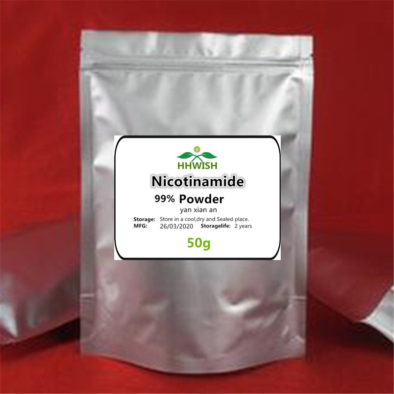 50-1000g NMN Nicotinamide Mononucleotide Powder,3-pyridylfamide,nicotinamide,whitening,skin Care And Anti-aging,free Shipping