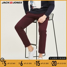 Jack Jones Mannen Lente Casual Broek Solid Straight Slim Fit Lycra Mode Broek Mannen Broek Streetwear | 217114504(China)