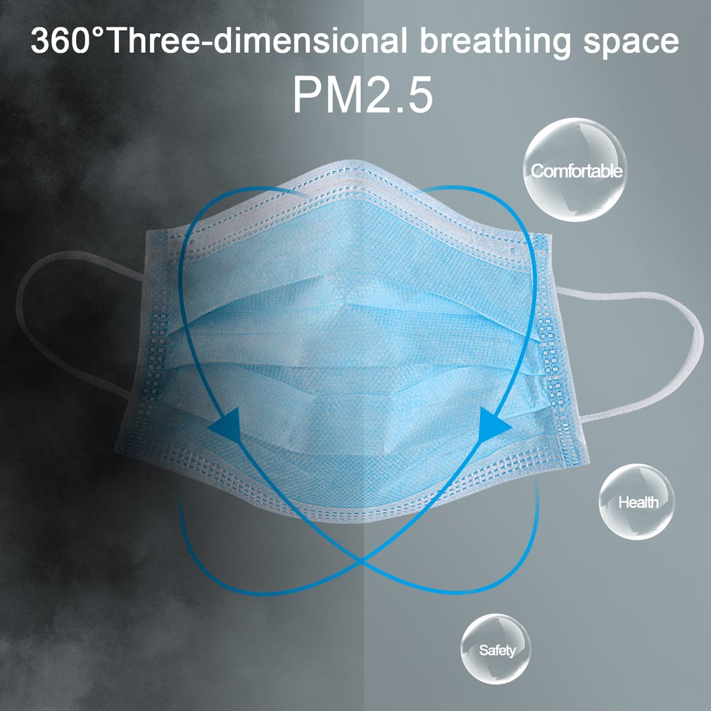 Image 5 - 50pcs Anti dust Safe and Breathable Face Mask Respirator Nail 