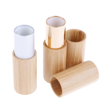 Creative Wood Lipstick Replacement Tubes Nature Bamboo Empty Lip Gross Container Lipstick Tube  DIY Container Lip Balm Tubes