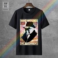 Camiseta de moda de algodón blanco y gris para hombre, póster de The Watchmen, envío gratis