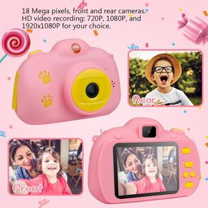 Image 4 - Çocuk Mini çocuk kamera çocuklar için eğitici oyuncaklar bebek hediyeleri dijital kamera 1080P HD özçekim Video kamera ile 32G kart