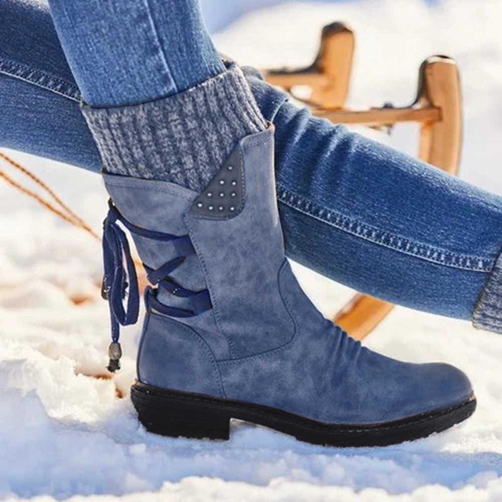 ADISPUTENT Mode Frauen Stiefel Lila Kurze Stiefeletten Aus Echtem Leder Blau Winter Geschnallt Schnalle Kurzen Boot Frauen Schuhe 2020
