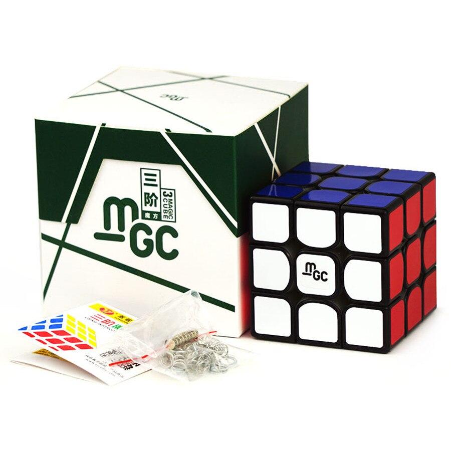 YJ MGC 3x3x3 Magnetic Magic Cube Black Yongjun MGC Speed Cube For Brain Training Toys For Children Kids