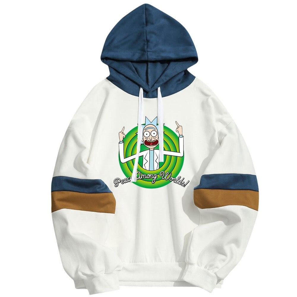 Rick and Morty Men Brand Hooded Hoodies Hip Hop Streetwear Hoody Sweatshirt Hombre Men Women Hoodie Sweat Homme Sweatshirts
