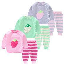 Childrenswear New Style 2019 Autumn Baby Sweater Suit Female Baby Autumn Clothing 0-1-3-Year-Old Women's Baby Clothes