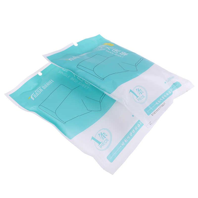 Maison produits taie d'oreiller jetable portative de couverture de couette de literie de drap-housse pour camper le voyage