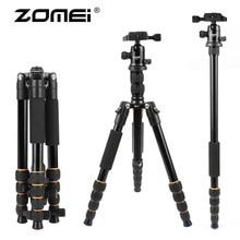 ZOMEI light weight Portable Q666 Professional Travel Camera Tripod Monopod aluminum Ball Head compact for DSLR Universal