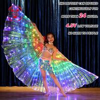YES LED Isis luminous Wings Colorful Butterfly Rainbow Wings Belly Dance Ballet Costume Stage Performance Props Wings Party Gift