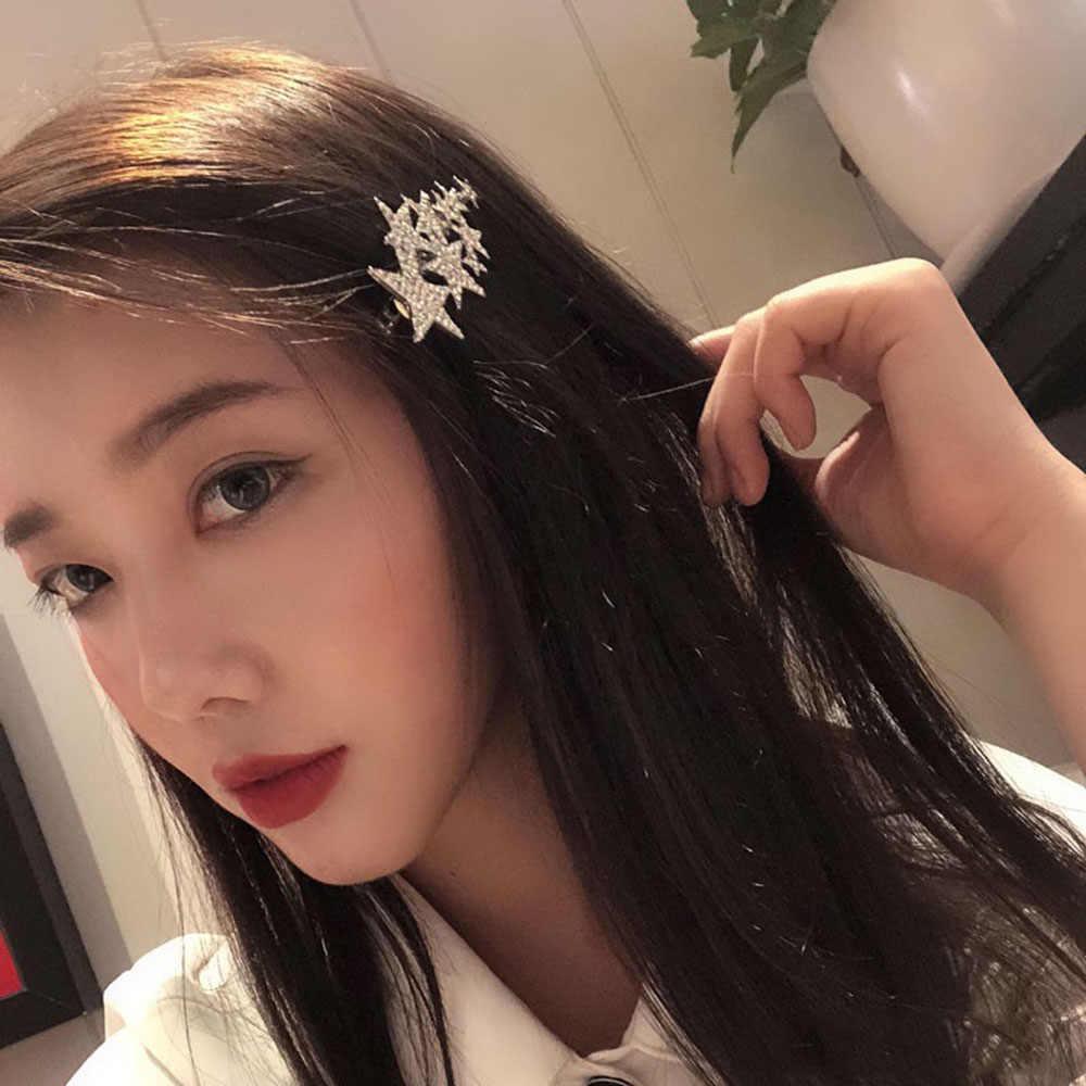 Headwear Shiny Barrette Hairgrip Hair Clips Crystal Triangle Hairpins