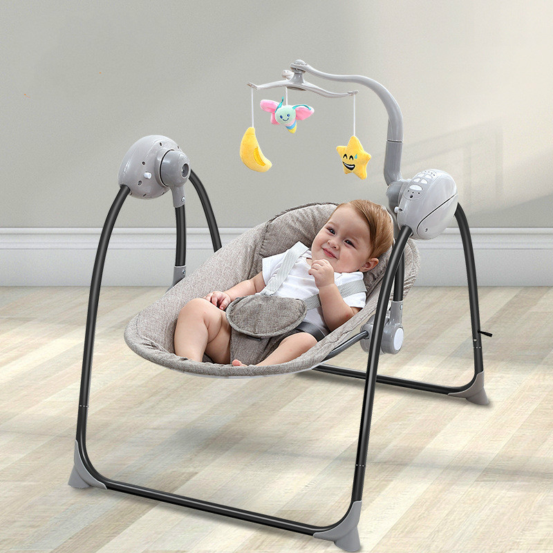Baby Rocking Chair Newborn Smart Charging Chair Remote Control Multi-function Electric Folding Infant Swing Chair