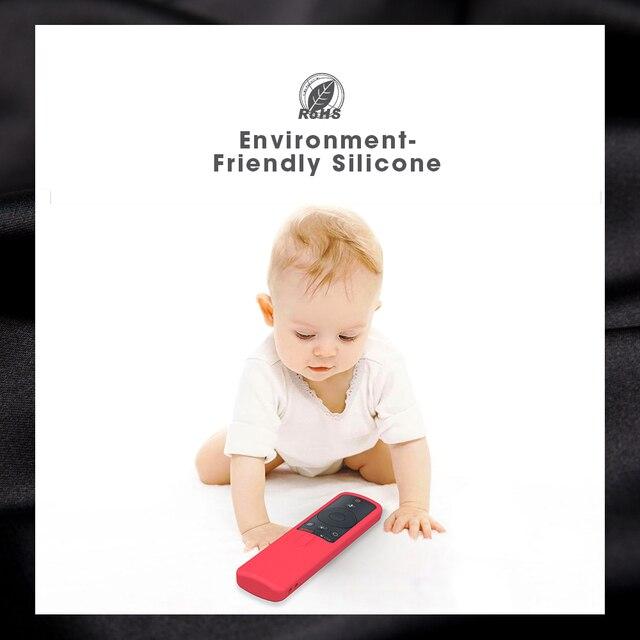 SIKAI Remote Case for Xiaomi Mi Box S 4X Mi TV Stick Control Cover Silicone Shockproof Skin-Friendly Protector 5