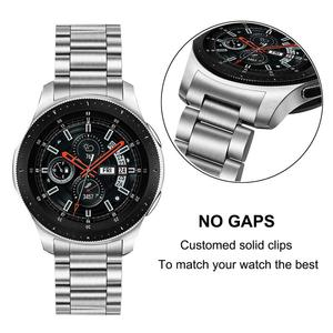 Image 2 - יד להסרה נירוסטה רצועת השעון + אין פער Soild קליפים עבור Samsung Galaxy שעון 46mm/ציוד S3 מהיר שחרור להקת רצועה