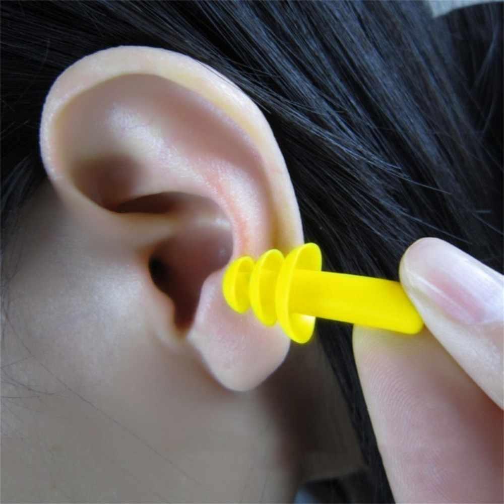 1 paire/3 paires bouchons d'oreille en Silicone étanche en spirale Anti-bruit ronflement bouchons d'oreille confortable pour dormir accessoire de réduction de bruit