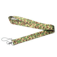 Camouflage cute style Multi-function Mobile Phone Straps Tags Neck Lanyards for key ID Lanyard Badges webbing E0492