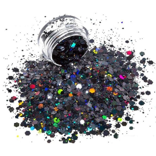 24jars/Set Nail Colorful Sequins Nail Art Glitter Flakes UV Gel Polish Mixed Hexagon Sparkly Paillette Decor Tools Sequins #FD11
