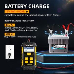 Image 5 - Konnwei kw510 testador de bateria de carro 12v carregadores de bateria automática reparação 5a bateria carregadores molhado seco chumbo ácido ferramenta de reparo de carro