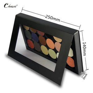 Image 3 - Palette อายแชโดว์ที่ว่างเปล่าแม่เหล็กสองด้านสีดำขนาดใหญ่ Naked Eye Shadow แต่งหน้า Palette DIY Refill 36*36 มม.กระทะ