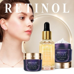 BREYLEE Retinol Set Face Serum Essence Eye Cream Facial Cream Mask Anti Aging Firming Remove Fine Line Wrinkle Tighten Skin Care