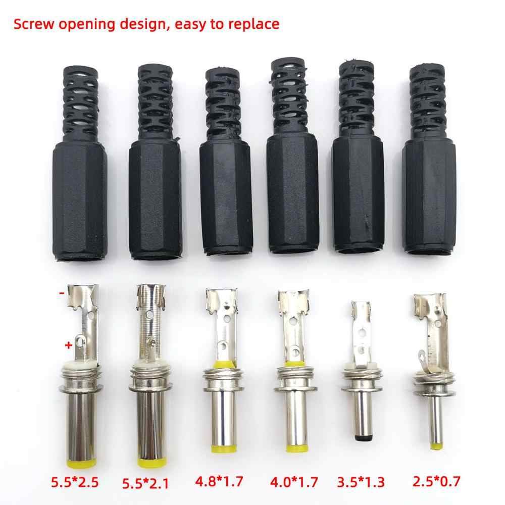 5PCS 2.5*0.7 3.5*1.3mm 4.0*1.7mm 4.8*1.7mm 5.5*2.1mm 5.5mm X 2.5mm Man Jack DC Power Plug Socket Jack Adapter Adapter Connector