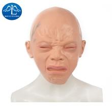MANLUYUNXIAO Halloween Latex Rubber Headgear Cosplay Costume Full Face Crying Baby Headgear Woman Man Children Wholesale